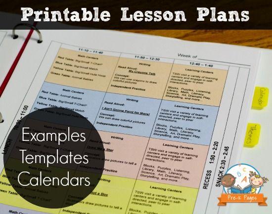 Lesson Plan Template Lesson plan binder, Kindergarten and School - sample kindergarten lesson plan template