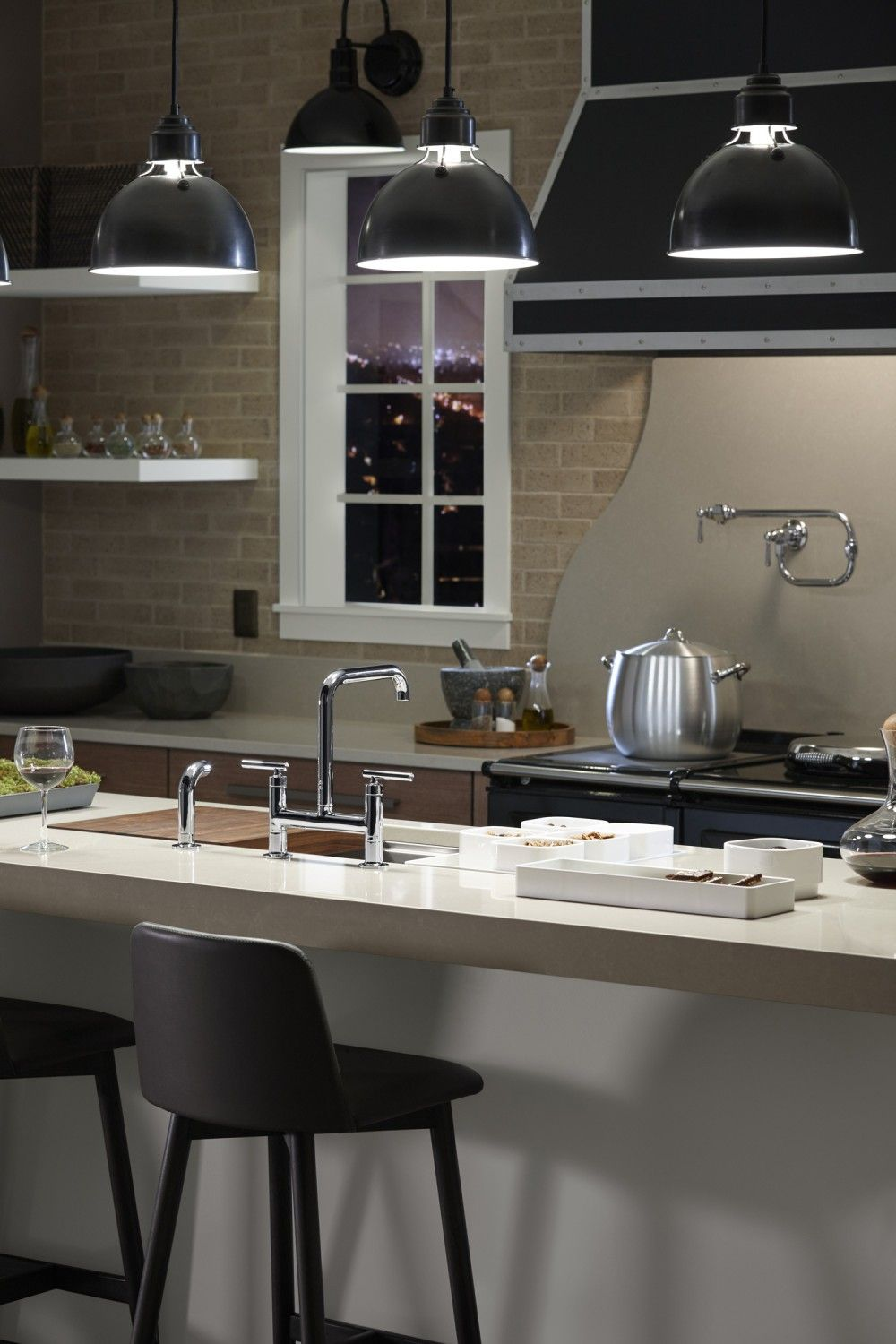 Latticed Luxe Kitchen | Industrial chic style, Loft kitchen and ...