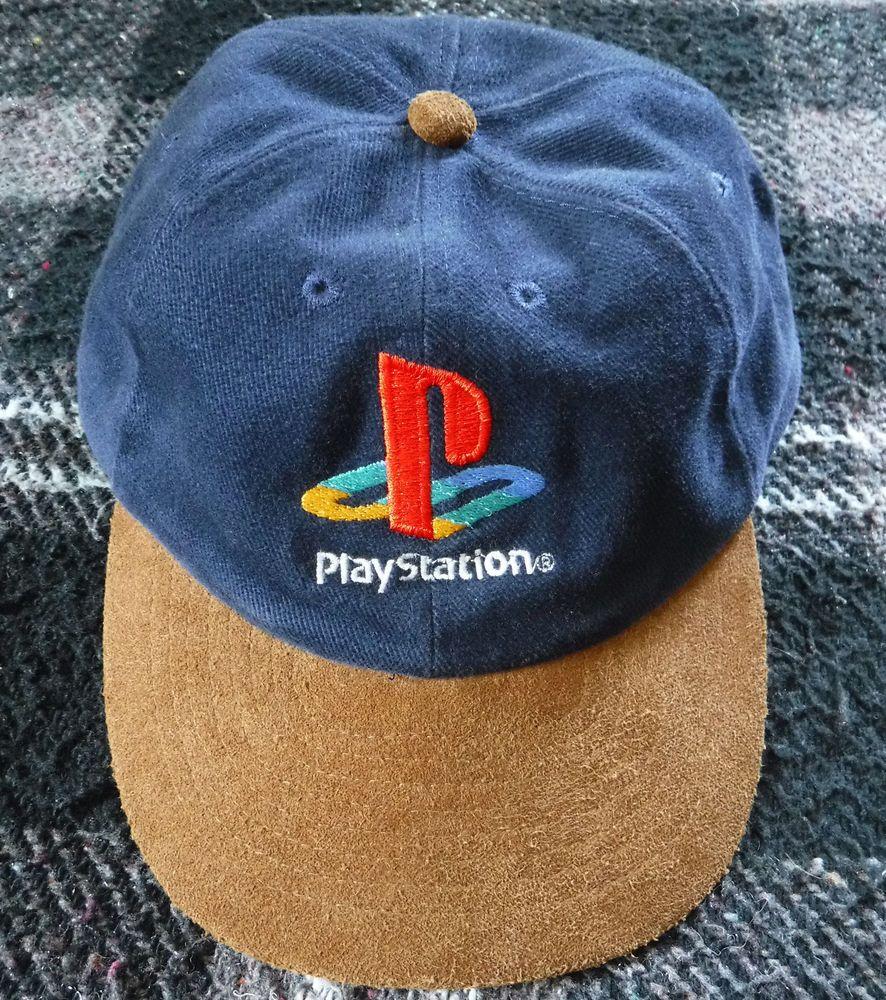 920ab674307fe Vintage PlayStation 1 Baseball Hat - BLUE Corduroy BROWN Suede Bangladesh  Mohr s (eBay Link)