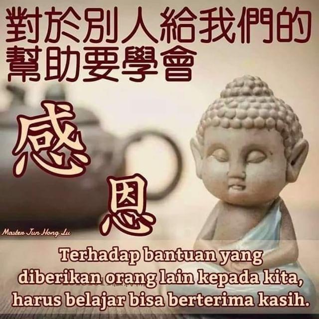 master jun hong lu: terhadap bantuan yang diberikan orang