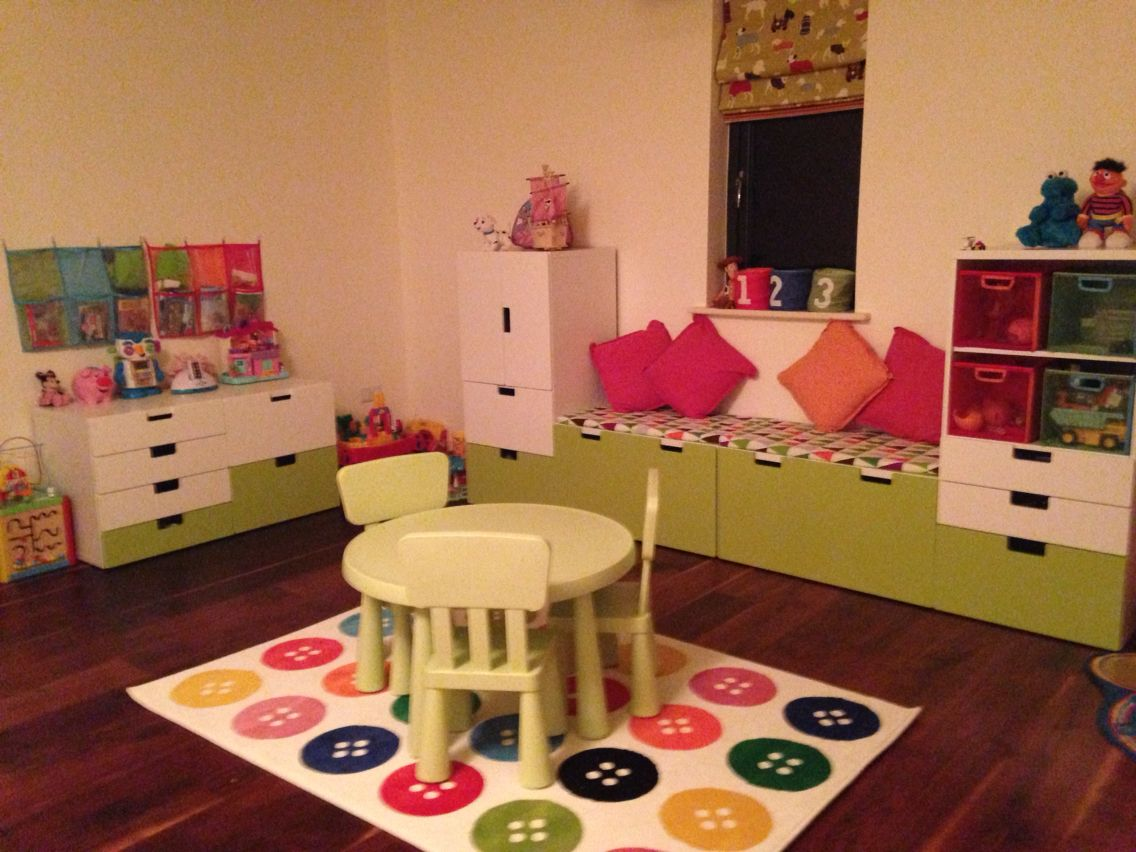 New Playroom from Ikea ️ Ikea kids room, Storage kids