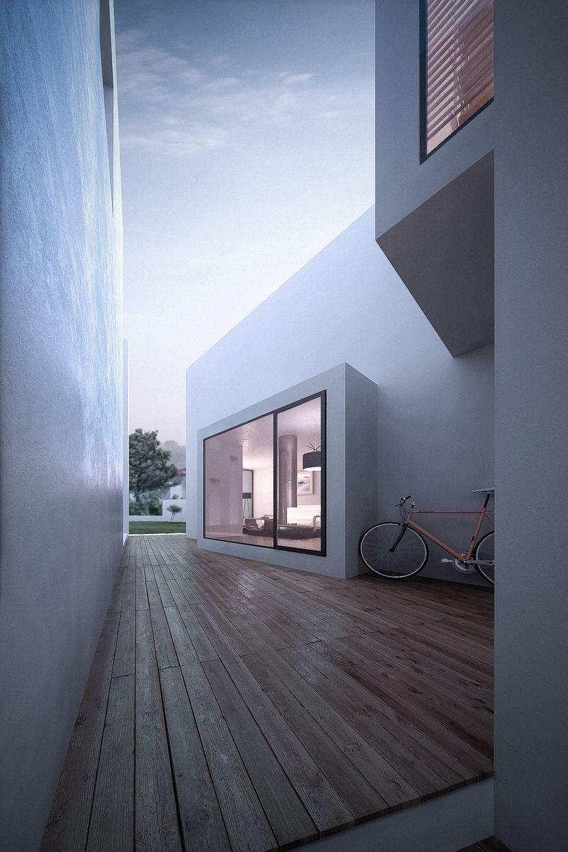 sleek timber lines Casa em Alenquer Salt Portfolio The