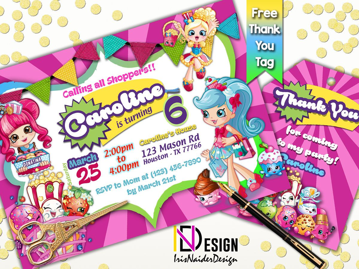 Melhores Ideias De Shopkins Invitations No Pinterest Idéias - Blank shopkins birthday invitations