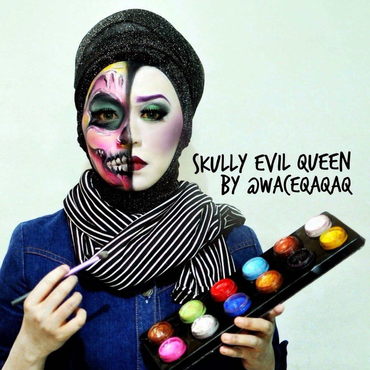 Ini Vindy Yang Ajaib: Face Painting Skully Evil Queen