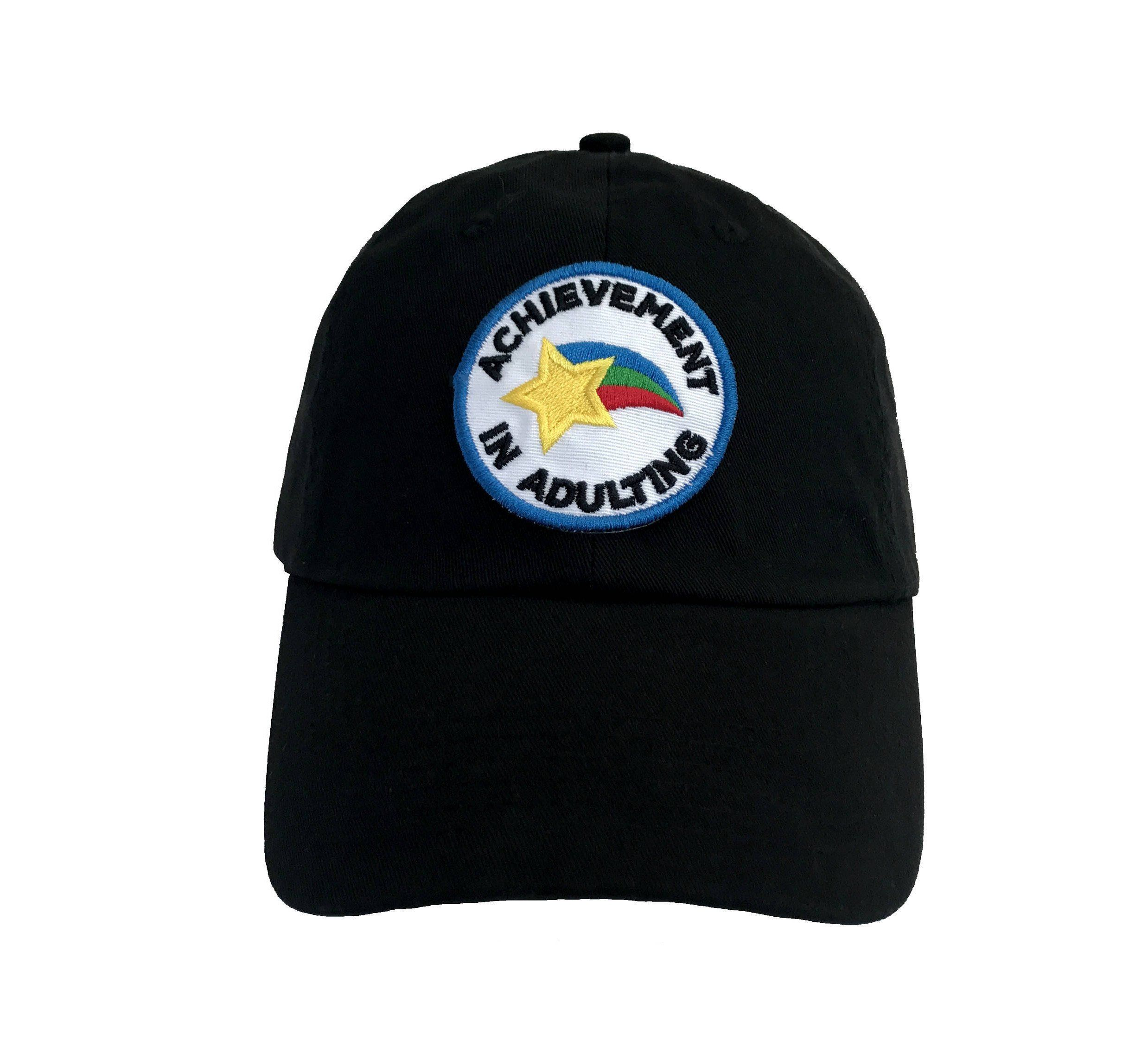 Achievement in Adulting Embroidered Merit Badge Dad Hat