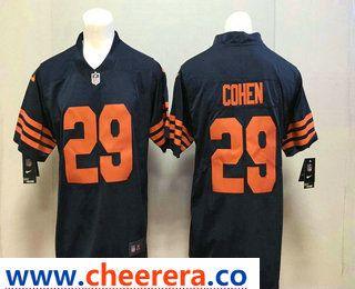 Men s Chicago Bears  29 Tarik Cohen Blue with Orange 2017 Vapor Untouchable  Stitched NFL Nike Limited Jersey 6376cb7b8