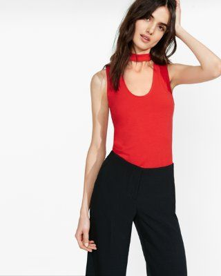 mock neck cut-out tank from EXPRESS