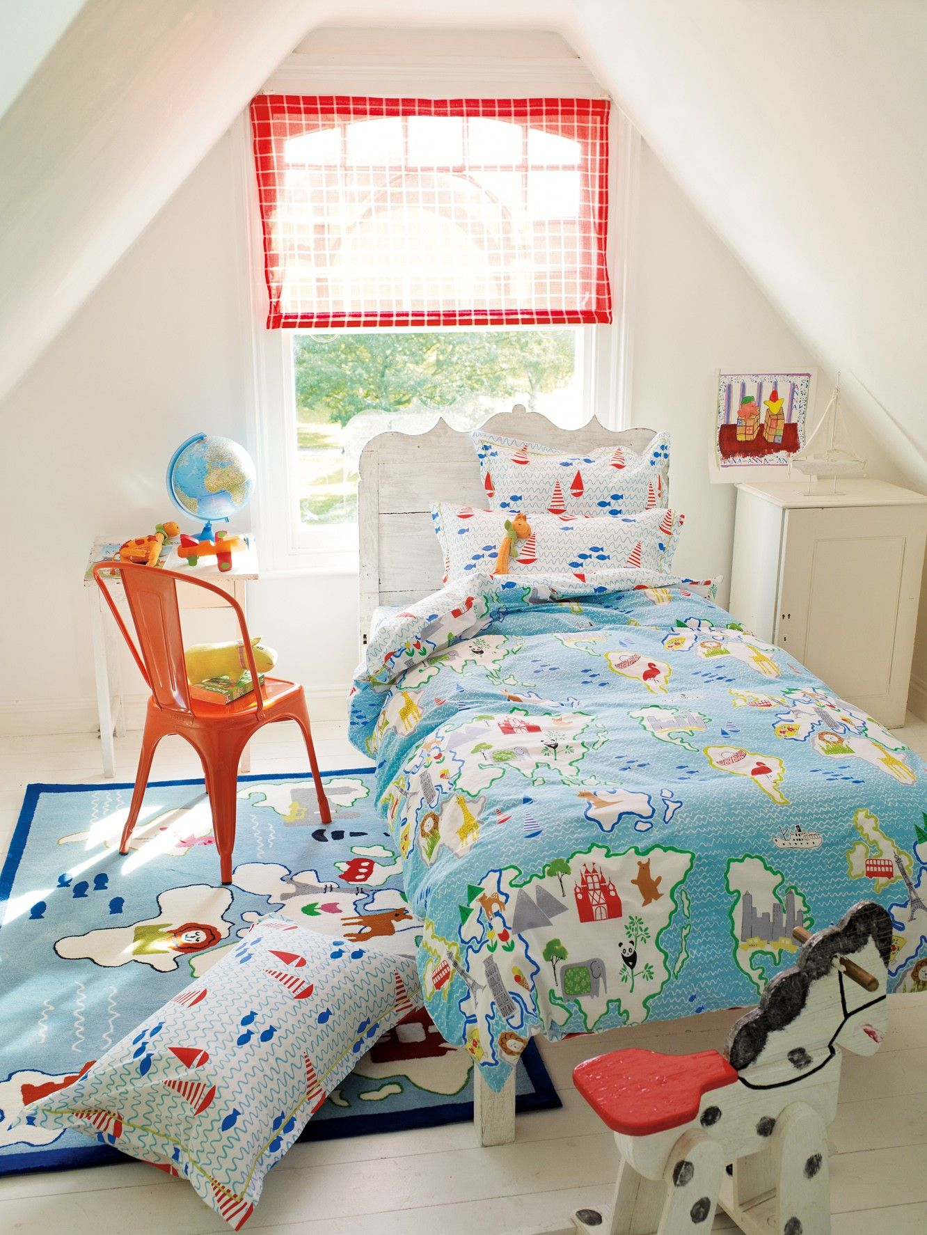 Kids Bedroom Linen world map bedding for kids | childrens bed linen sets at bedeck