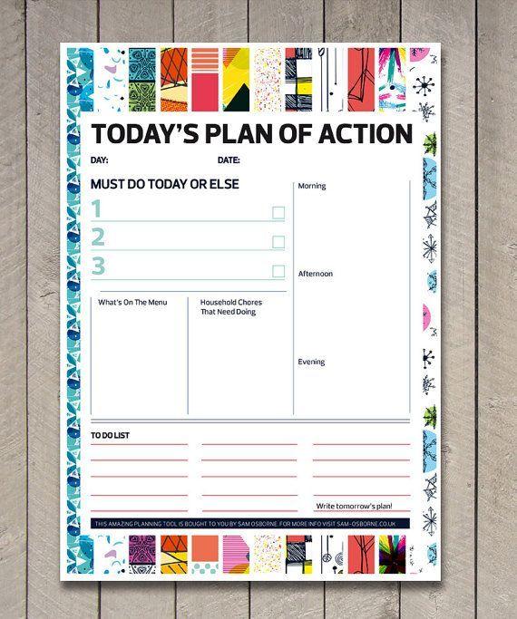 Printable Day Family Organiser To Do List Chart