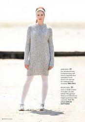 длинный свитер спицами Melodia Crochet And Knitting For Women