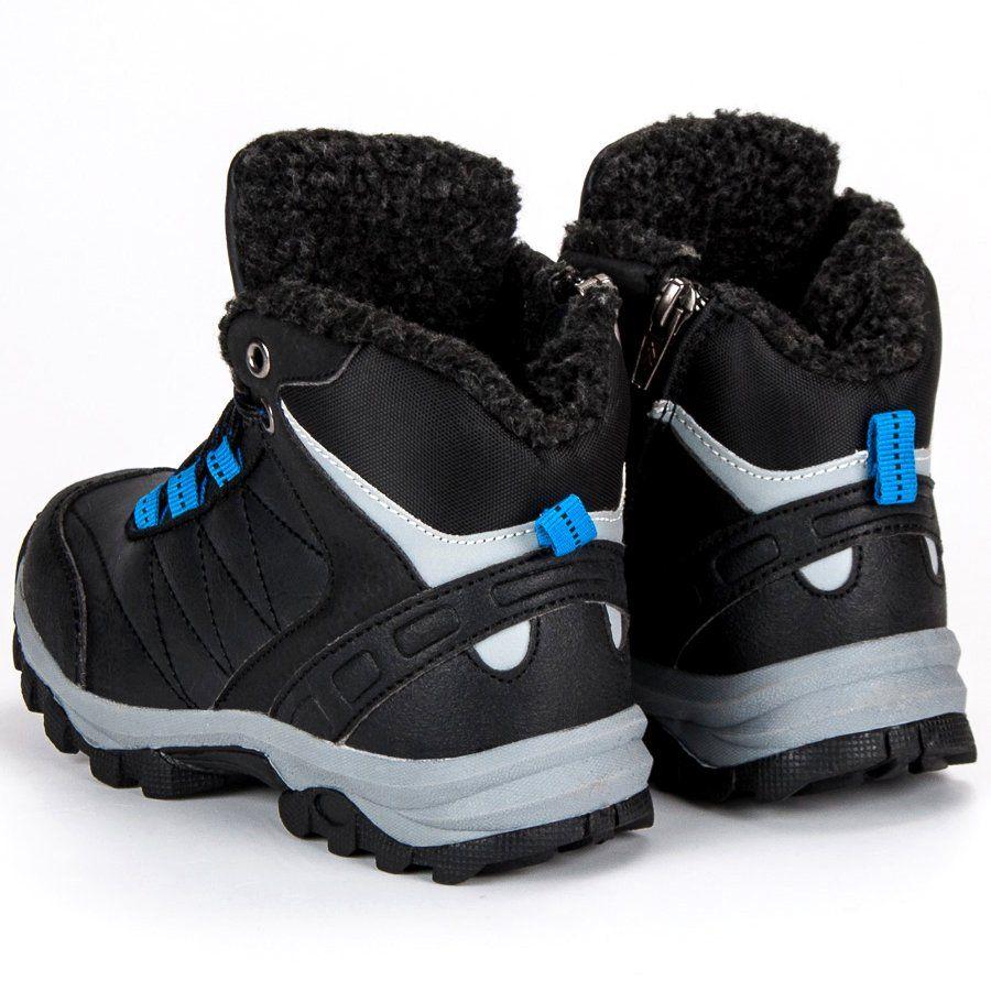 Polbuty I Trzewiki Dzieciece Dla Dzieci Axboxing Ax Boxing Czarne Obuwie Zimowe Boots Shoes Winter Boot