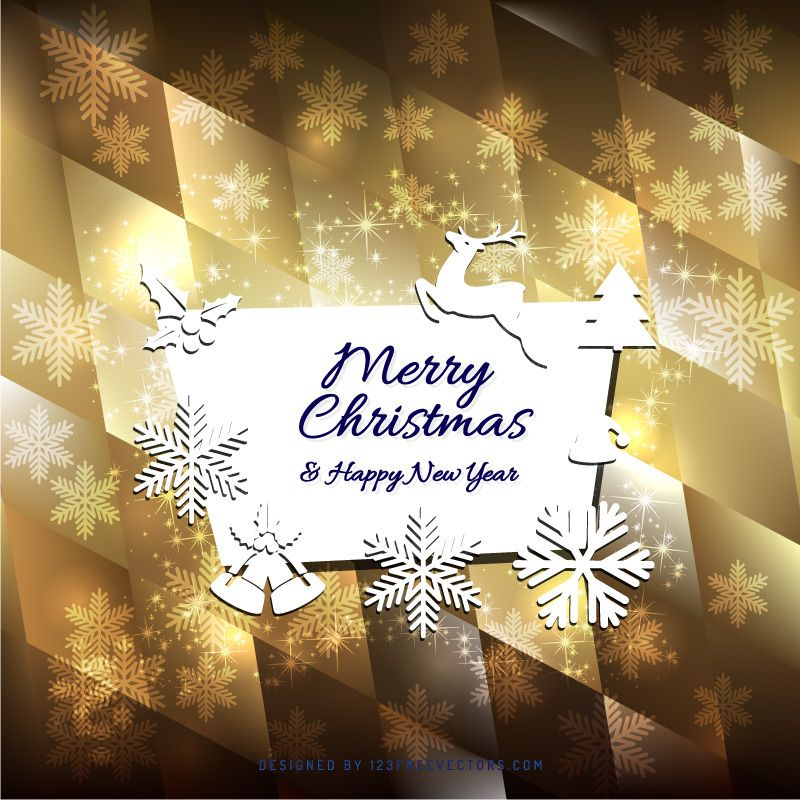 Merry Christmas And Happy New Year Greeting Card Template Merry Christmas And Happy New Year Happy New Year Cards New Year Greeting Cards