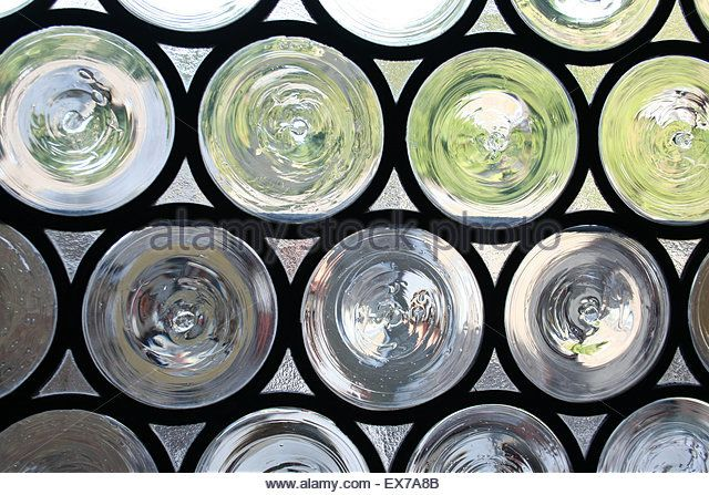 Circles Of Leaded Glass Medieval Window Bacharach Germany