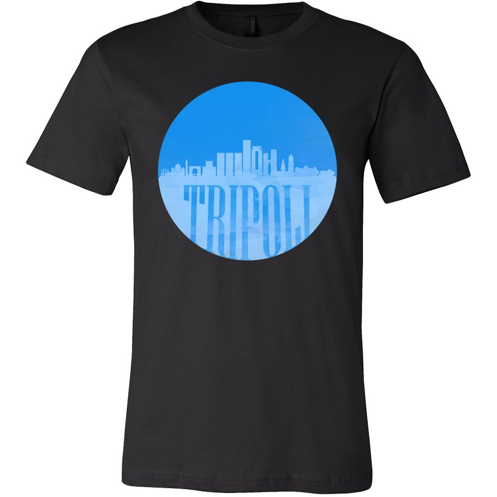 Tripoli Skyline Horizon Sunset Love Libya Gift T-shirt