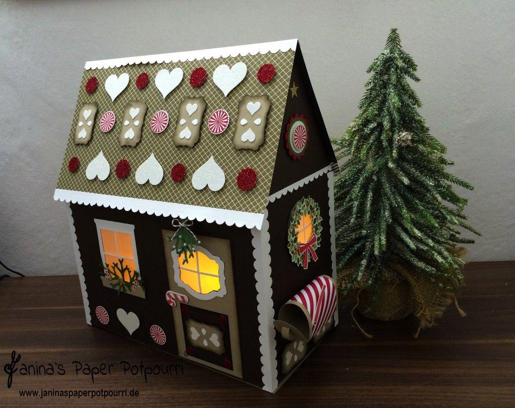 jpp papier lebkuchenhaus beleuchtet paper gingerbread house with lights knusperhaus. Black Bedroom Furniture Sets. Home Design Ideas