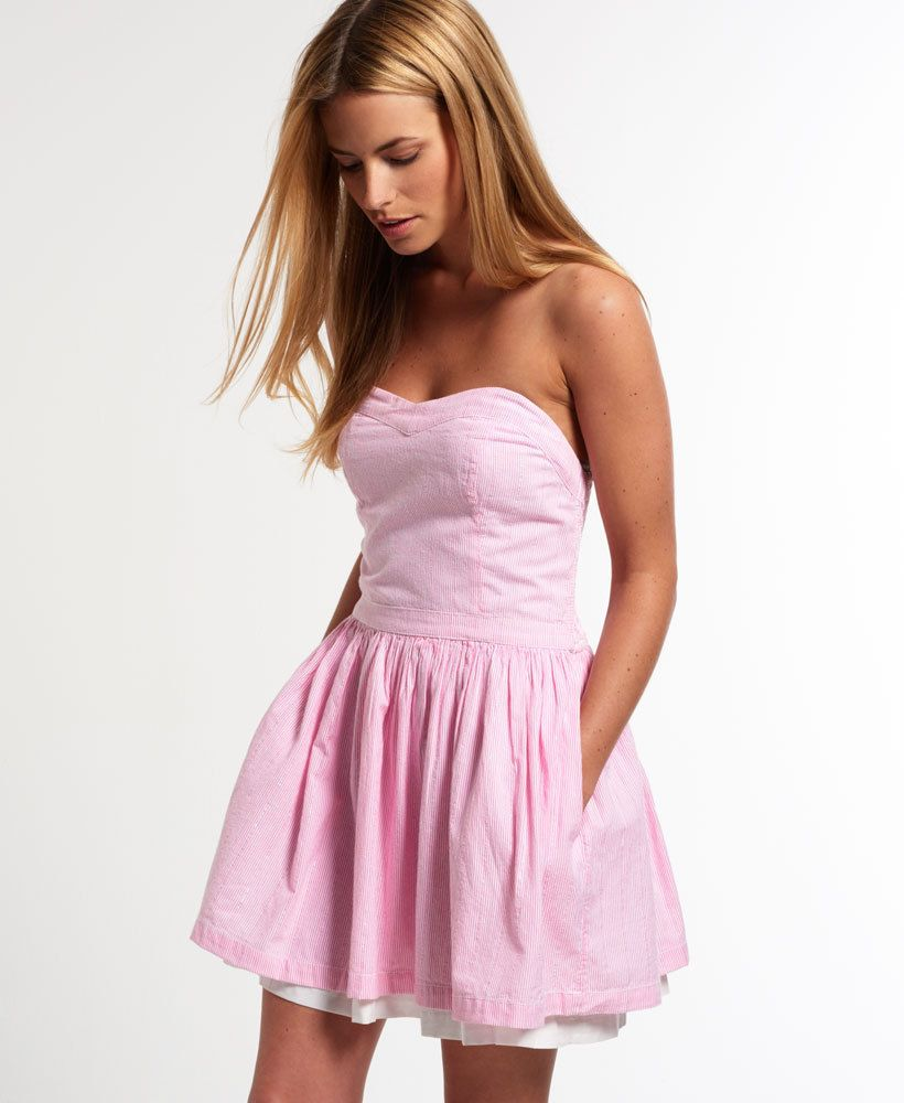 Pink Seersucker Dress Women