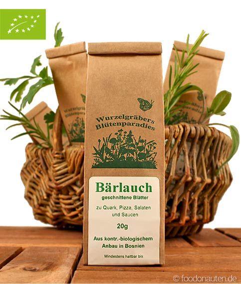 Bärlauch verfügt über einen frisch-aromatischen, stark knoblauchartigen Duft und Geschmack. Wenn man im Frühling durch den Wald spaziert und an Bärlauch vorbeikommt, kann man ihn bereits an seinem starken Duft erkennen.  http://www.foodonauten.de/produkte/kuechenkraeuter/baerlauch-geschnitten-20g-bio/