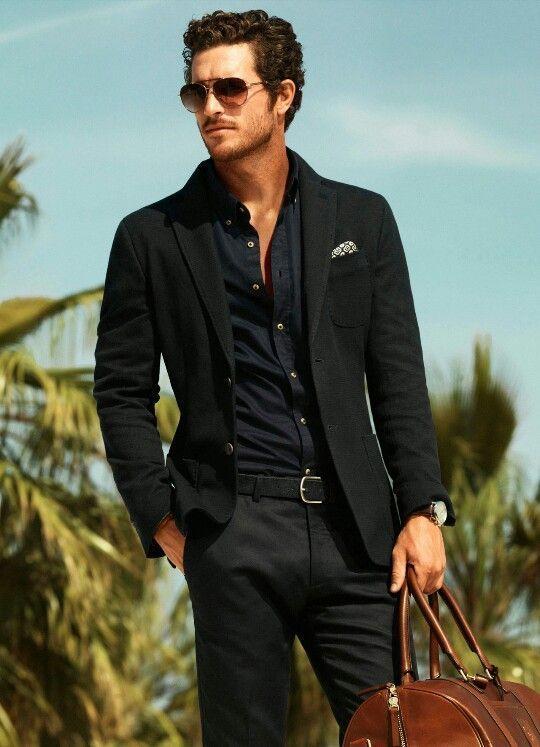 Black Dressy Casual Mode Homme Tenue Decontractee Pour Homme Habillement Homme