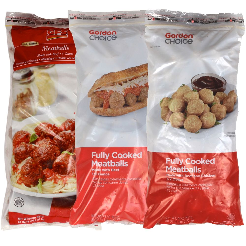 Meatballs  Your choice: Beef or Beef & Chicken  5 lb  bag