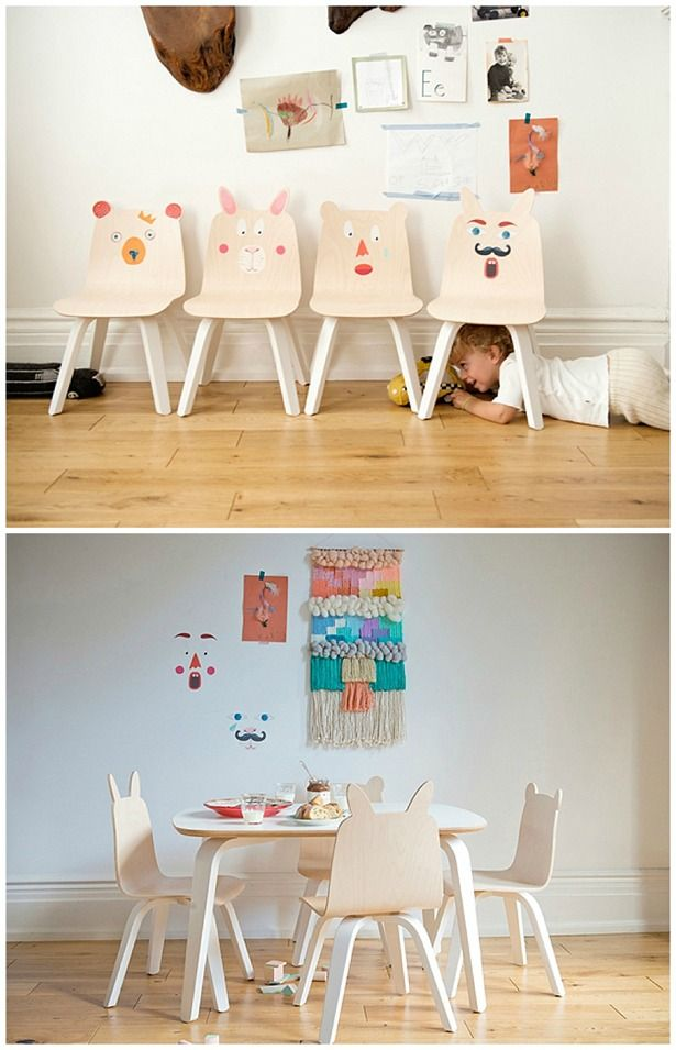 Playful Animal Chairs And Tables For Kids From Oeuf Kids Room Furniture Kids Table And Chairs Kids Chairs