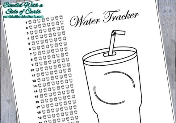 Water Tracker Bullet Journal-Printable Pages