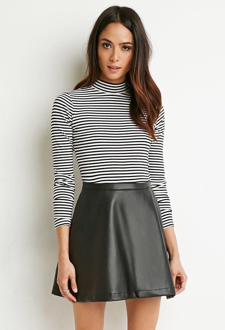 993c2e1e5 Faux Leather Skater Skirt - Skirts - 2000172556 - Forever 21 EU English