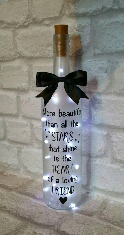 Light Up Wine Bottle Gift Friend Birthday Gift Christmas