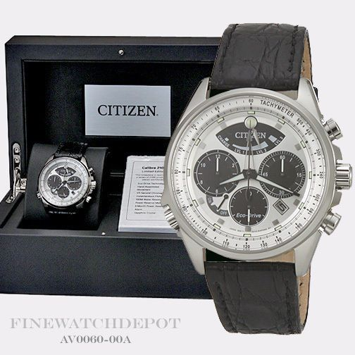 Other Watches 166739: Authentic Citizen Eco-Drive Mens Calibre 2100 Chronograph Watch Av0060-00A BUY IT NOW ONLY: $514.0
