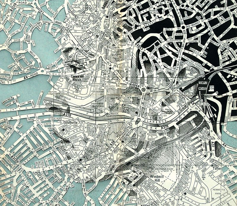 New Portraits Drawn on Maps by Ed