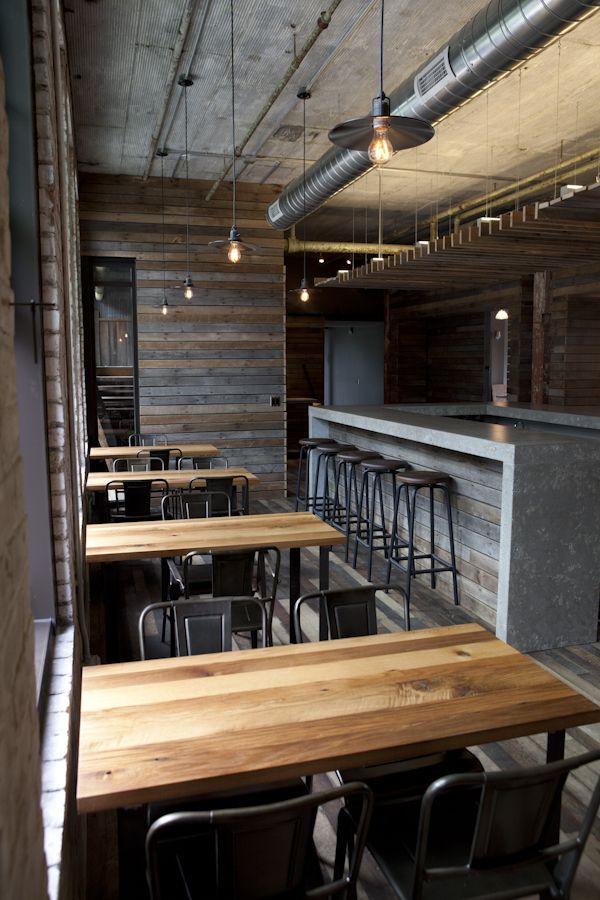 Journeyman Distillery Tasting Room Restaurant Interior Design