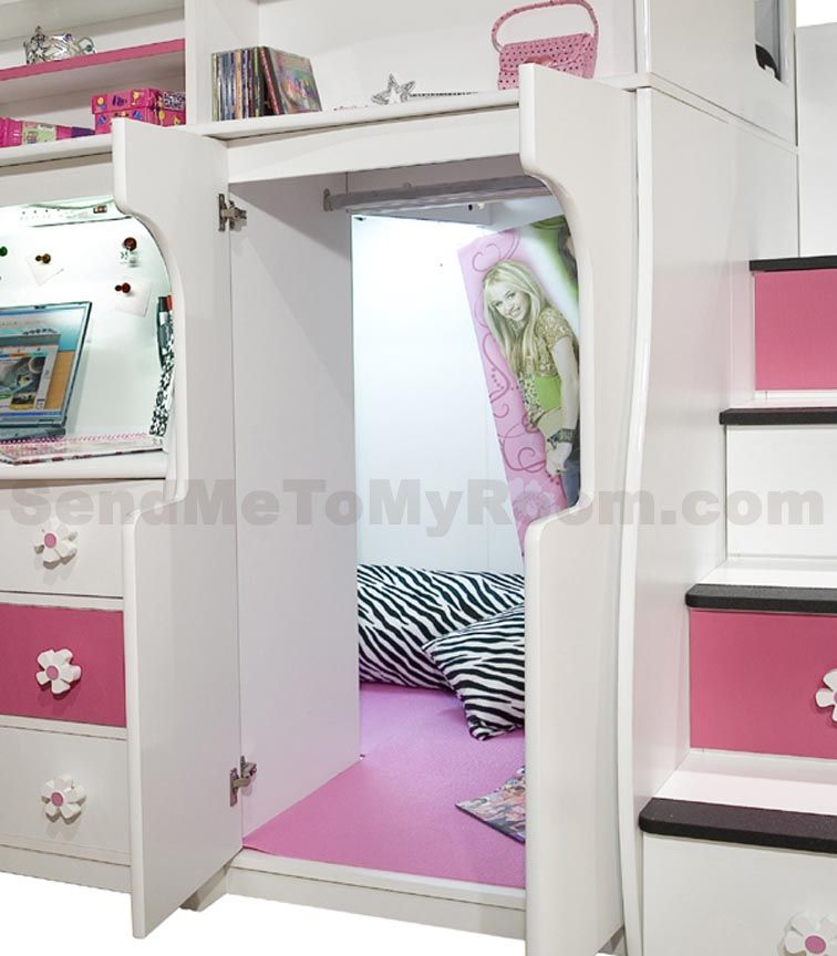 Loft Bed With Desk And Stairs Berg Furniture Play