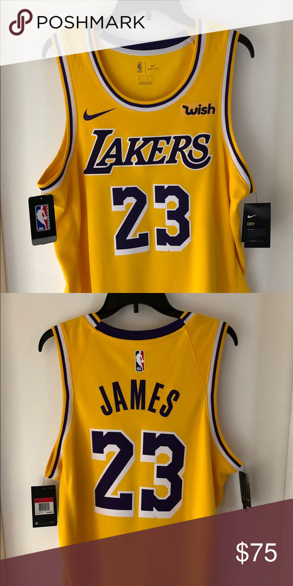 finest selection e6790 49b3d Lakers Lebron Jersey Nike Swingman Jersey Brand New Never ...
