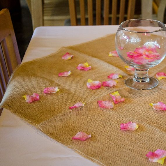 54 inch Burlap Square Tablecloth | Burlap Tablecloths, Table Toppers, Natural Table Linen Overlays