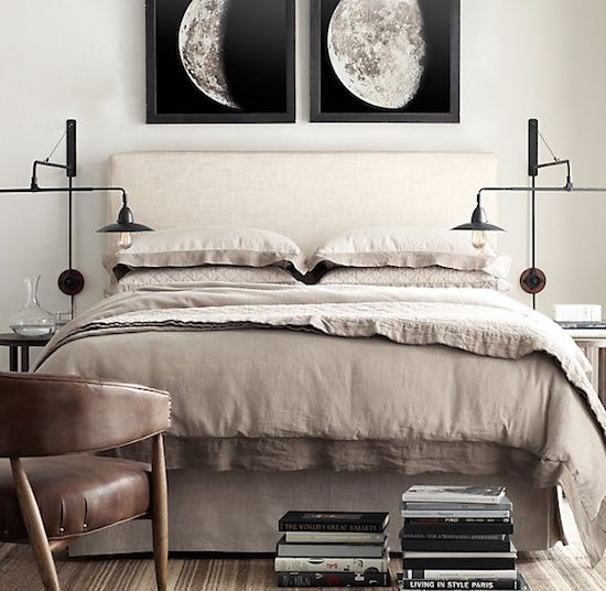 #Neutral colors and layers create a relaxed #modern #bedroom