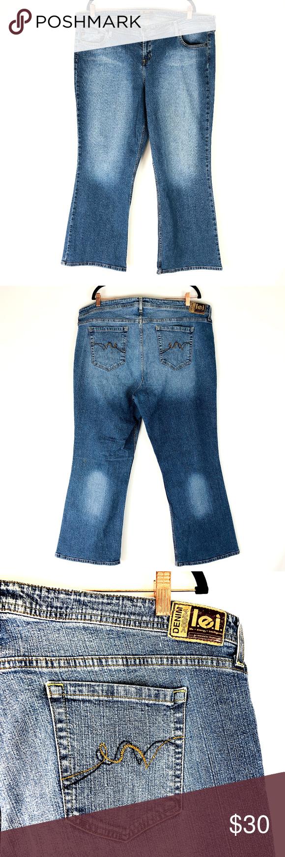 b4ae65463cfd1 lei Plus Size Denim Blue Jeans Sz 24 Average lei Plus Size Denim Blue Jeans  Tag Size  24 Average Approximate Measurements Color  Medium wash denim blue  ...
