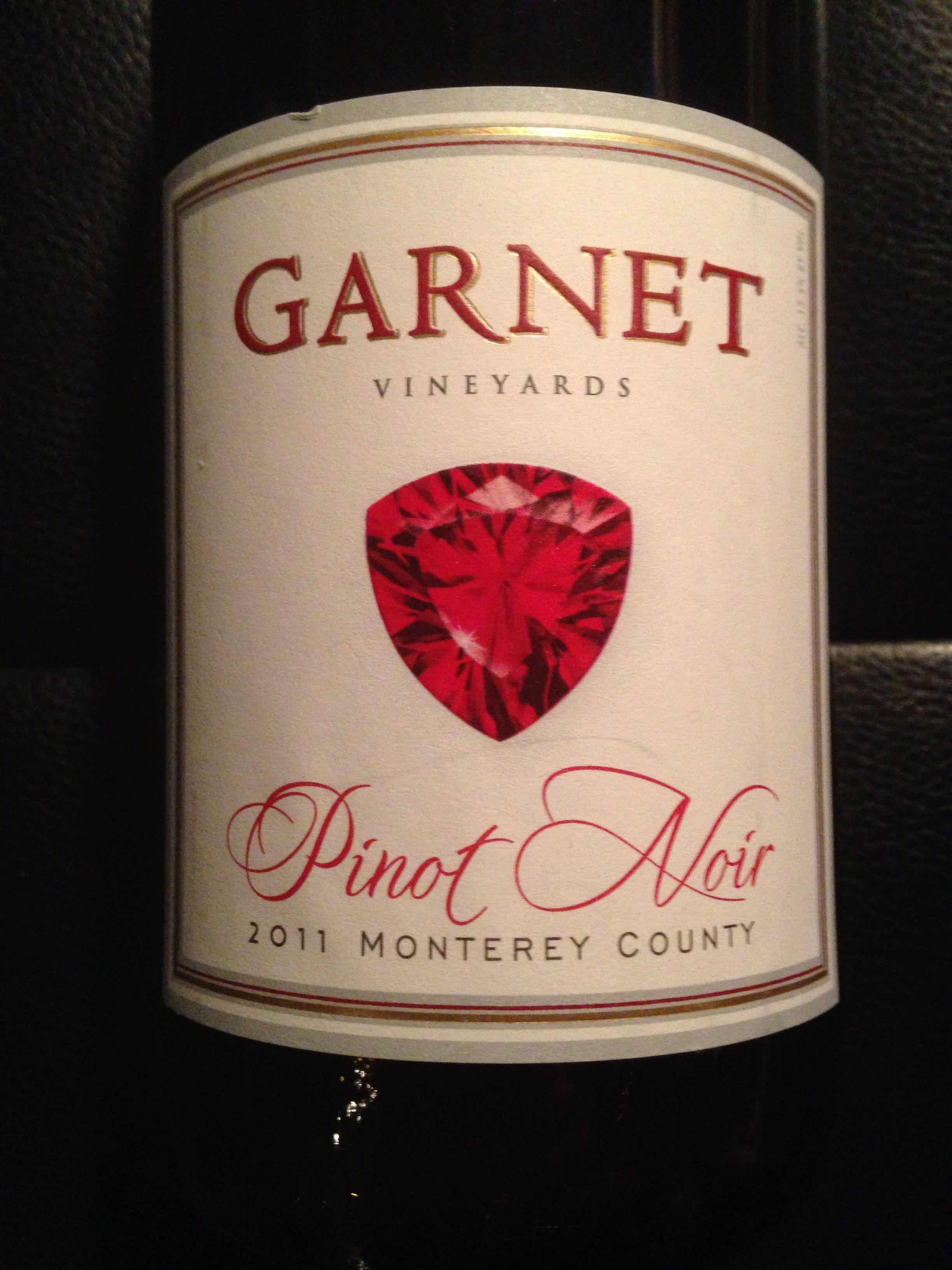 2011 Garnet Pinot Noir Wines Pinot Noir Favorite Wine