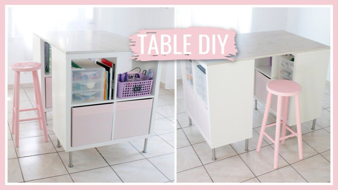 FABRIQUER UNE TABLE DE DIY : DIY Facile & Pas Cher !  Diy ikea