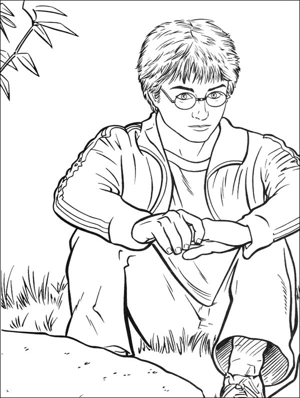 Harry Potter Outs Coloring Pages Harry Potter Coloring Pages