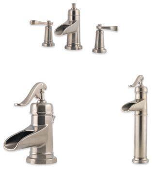Ashfield 4 Inch Centerset Trough Faucet Contemporary Bathroom