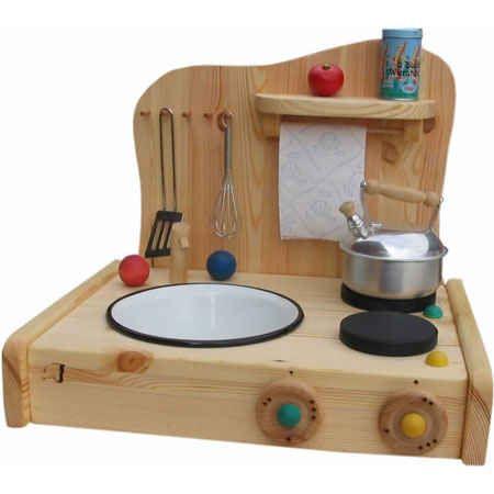 Children S Tabletop Stove And Sink Set Wooden Play Kitchen Kids Play Kitchen Diy Kids Kitchen