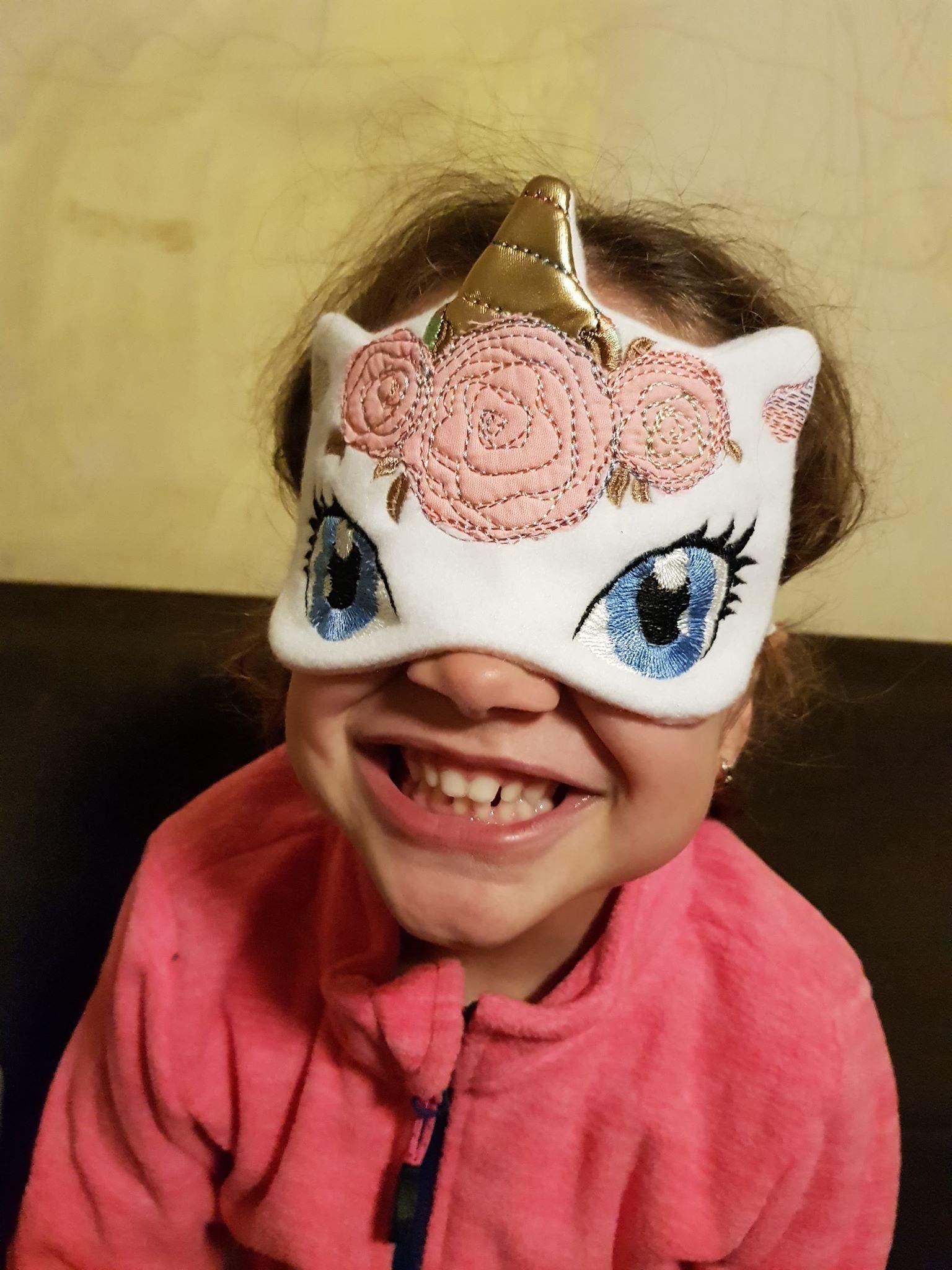 Unicorn sleep mask for girl women Handmade eye mask