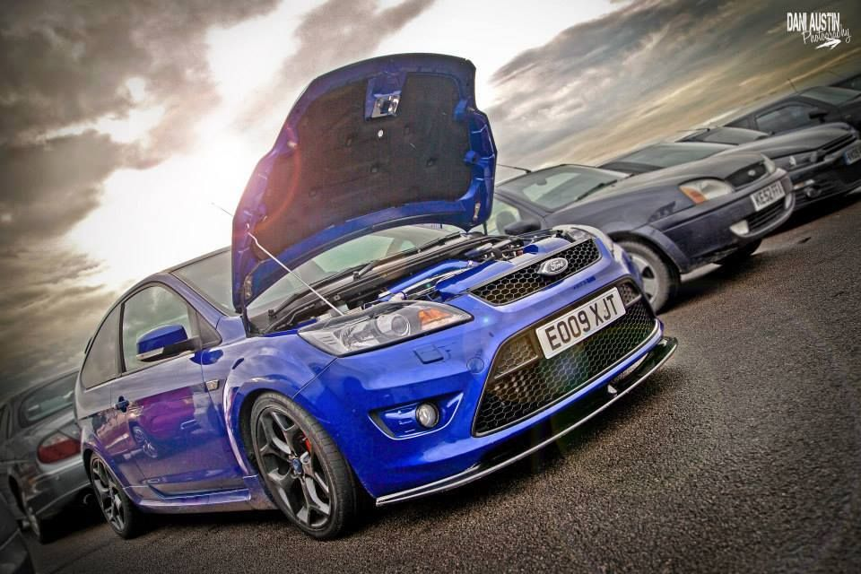 Blue Ford Focus St Mk2 Facelifting And Black Rims Ford Focus