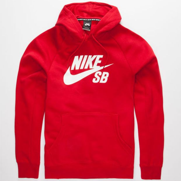 c71517573e87 Nike Sb Icon Mens Hoodie Red In Sizes