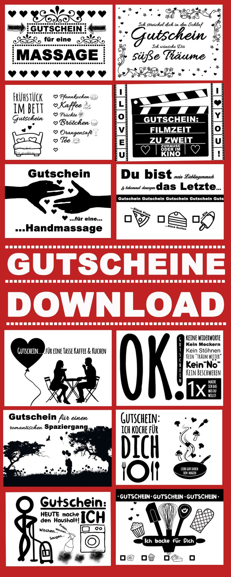 Valentinstag Gutscheine: Das perfekte Geschenk als Download! #valentinstag_gutscheine #valentinstag_download #download