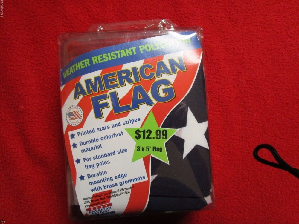 American Patriot American Flag 3' x 5' Durable Printed Stars and Stripes USA