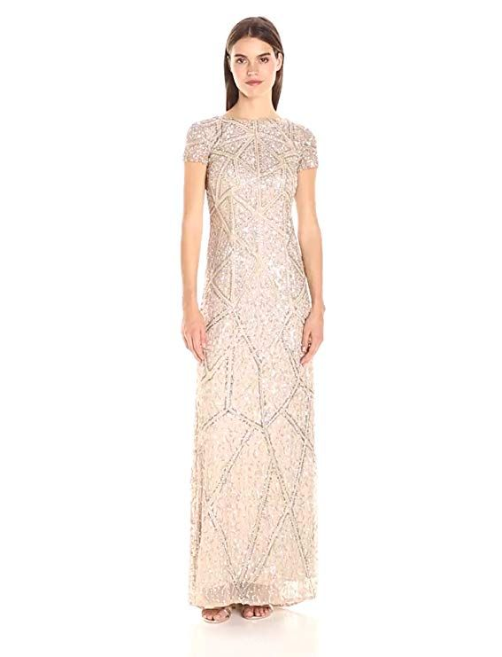 Adrianna Papell | Beaded V-Neck Gown | Gowns, Dresses