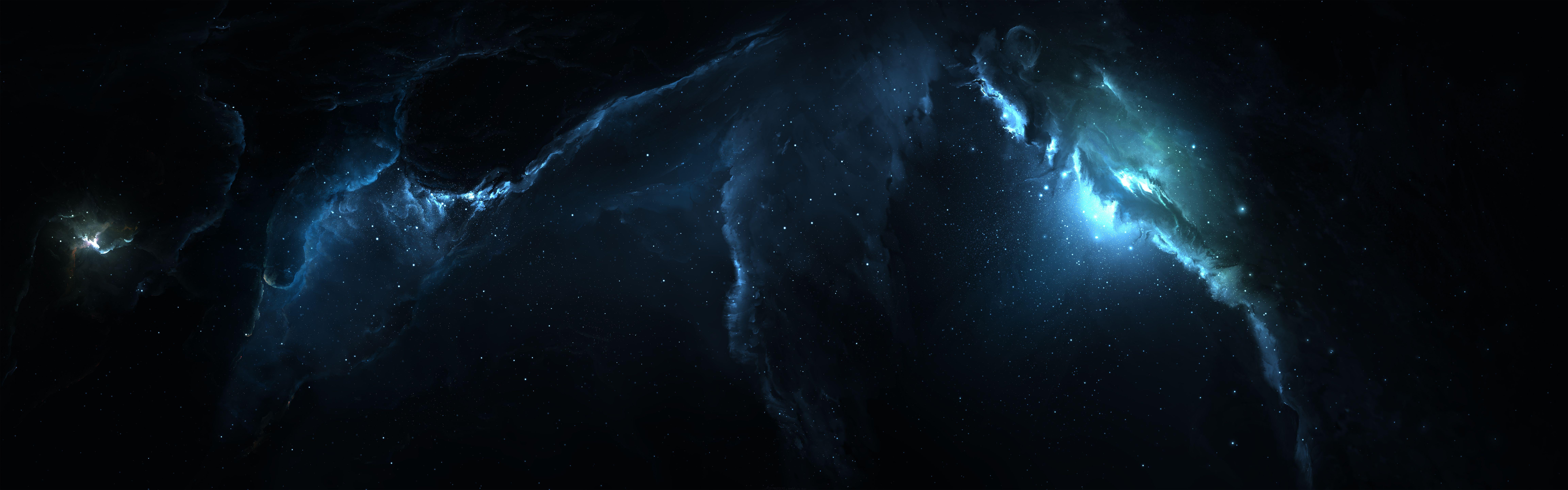 Atlantis Nebula 3 Dual Monitor By Starkitecktdeviantart
