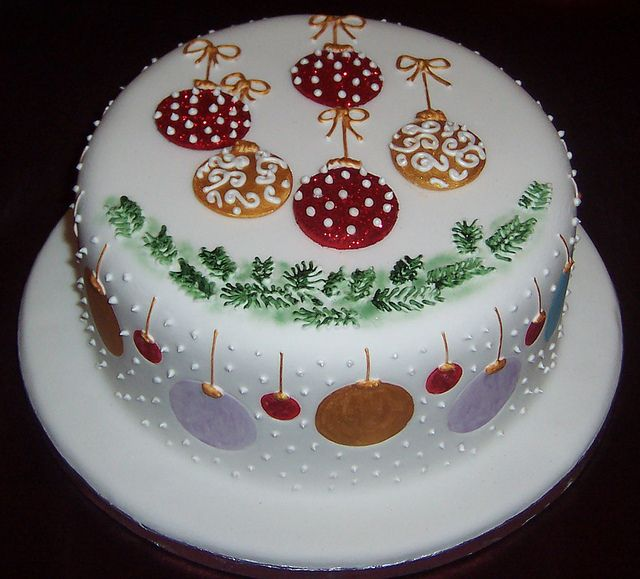 Baubles Cake Christmas Cake Designs Christmas Cake Decorations Christmas Themed Cake