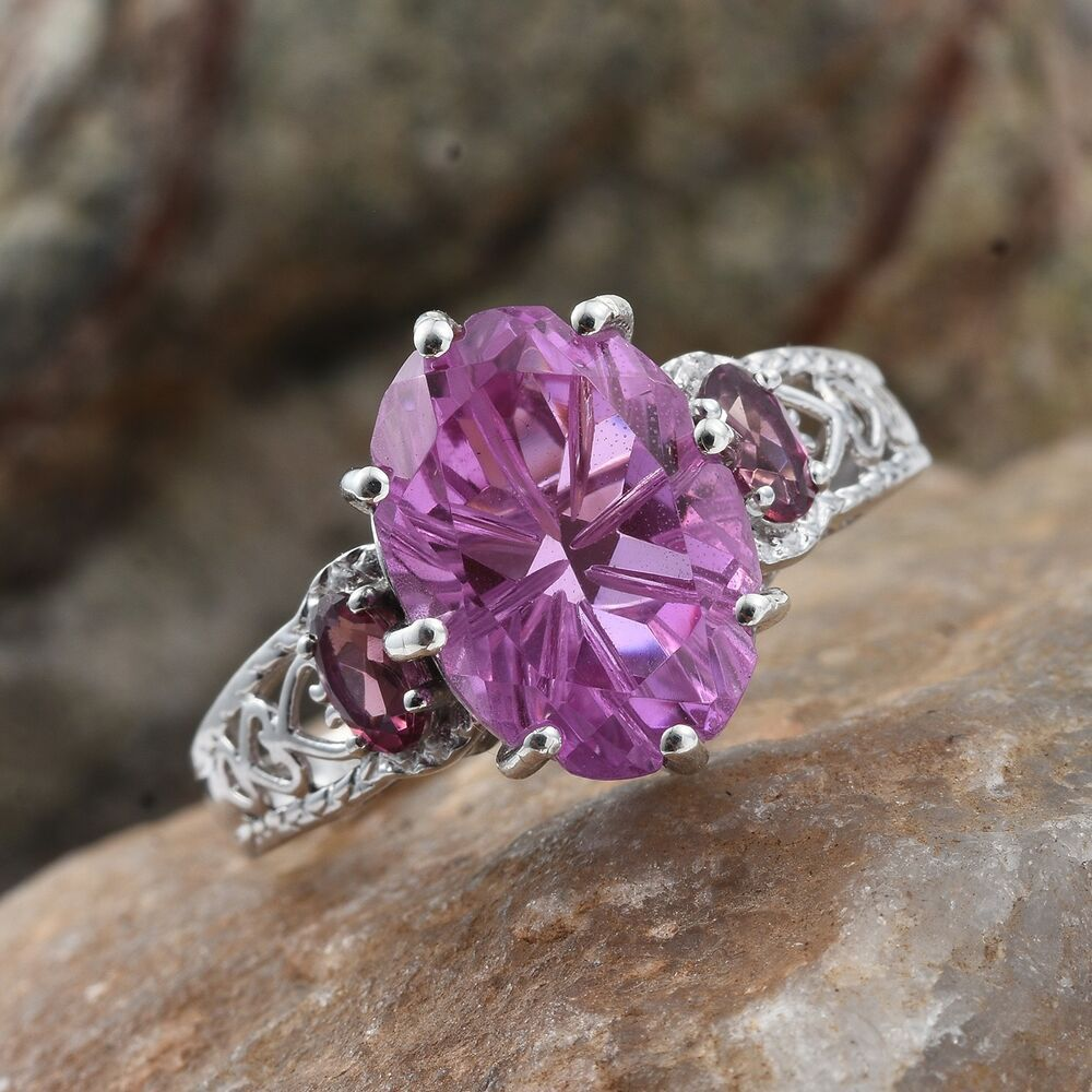 Details about  /Heart Shape Amethyst White Topaz 925 Sterling Silver Love Engagement Bridal Ring