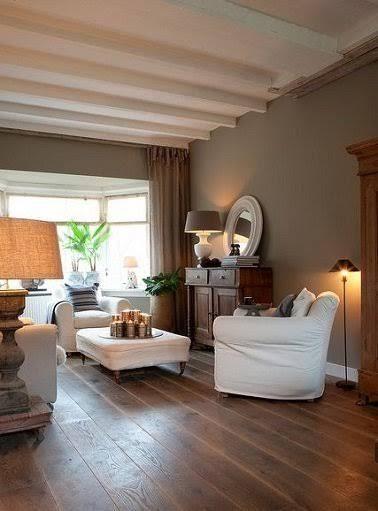 La couleur taupe inspire la déco de toute la maison ! Salons and Walls